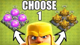 THE MOST IMPORTANT DECISION YOU WILL EVER MAKE IN CLASH OF CLANS!! LOOT or TROPHIES!?