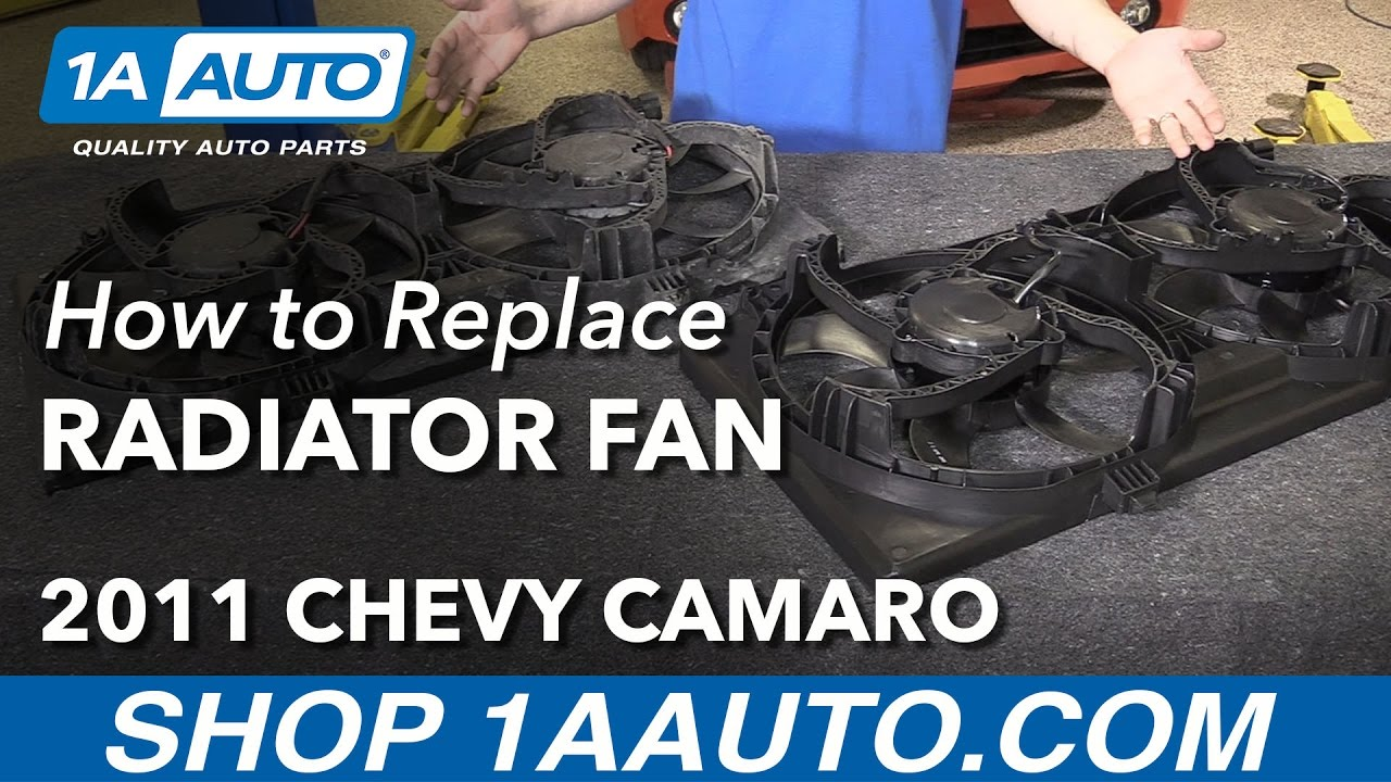 how to install replace radiator cooling fan assembly 2011 chevy camaro [ 1280 x 720 Pixel ]