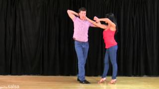 Crazy Hand Juggling - Salsa Lesson with Jennifer and David Stein