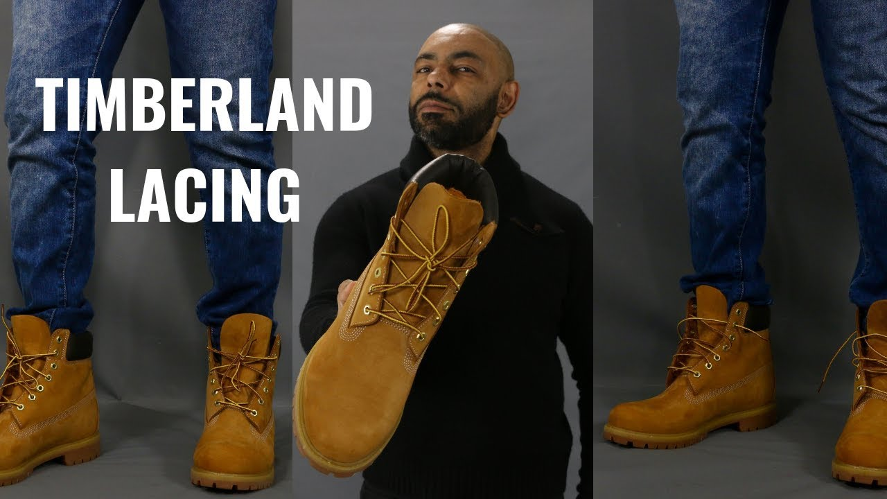 How To Lace Timberland Boots - YouTube