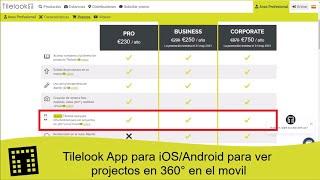 Tilelook App para iOS/Android para ver proyectos en 360º en el móvil