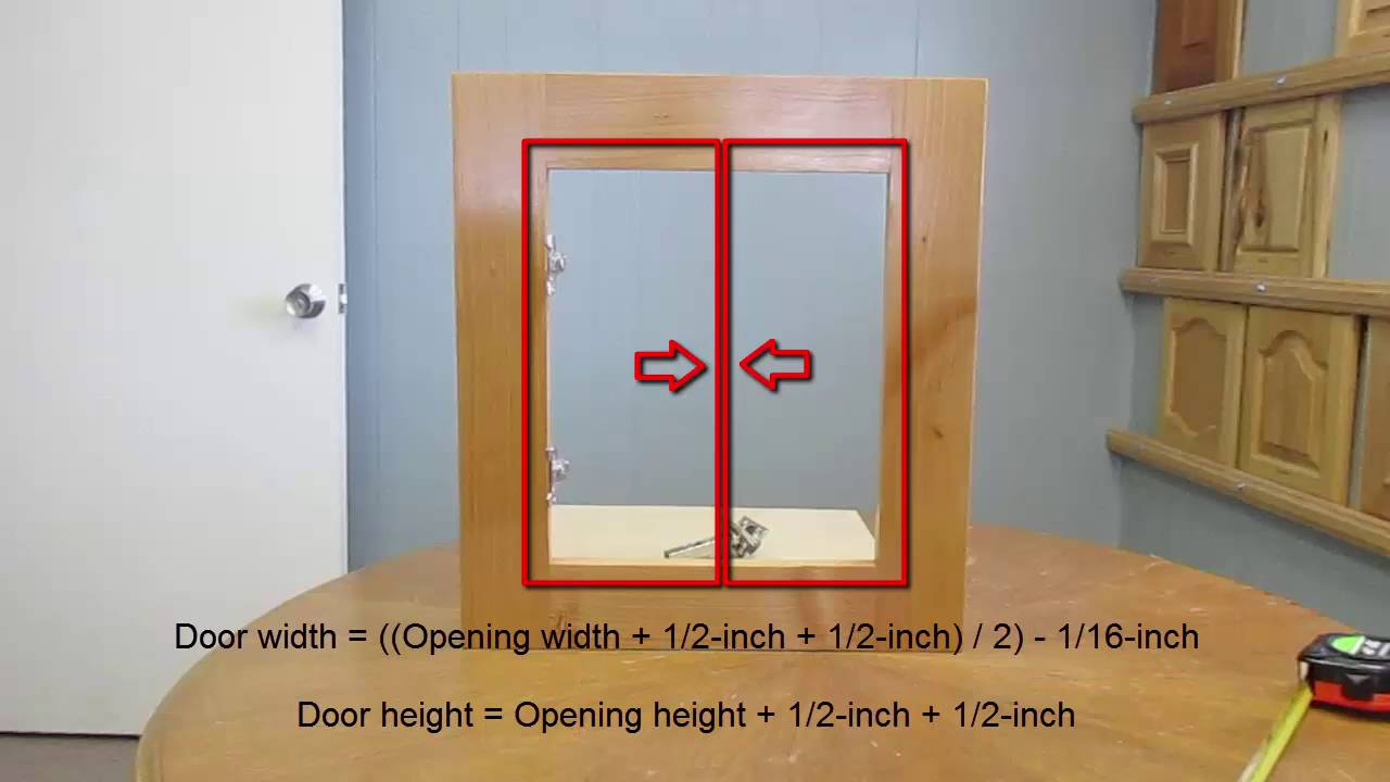 How To Measure Cabinet Openings For New Cabinet Doors Youtube