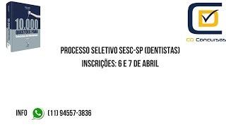 Baixar Dica quente: SESC- SP abriu inscrições para Processo Seletivo para Dentistas