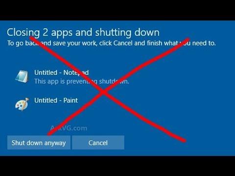 วิธีปิดแจ้งเตือน closing app and shutting down (disable) #1