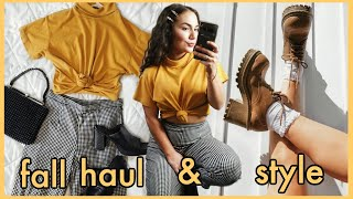 FALL THRIFT HAUL + OUTFIT INSPIRATION   watch me style full thrifted looks :)