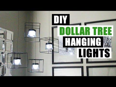 DIY DOLLAR TREE HANGING LIGHTS Dollar Store DIY Pendant Lighting DIY Home Decor Project