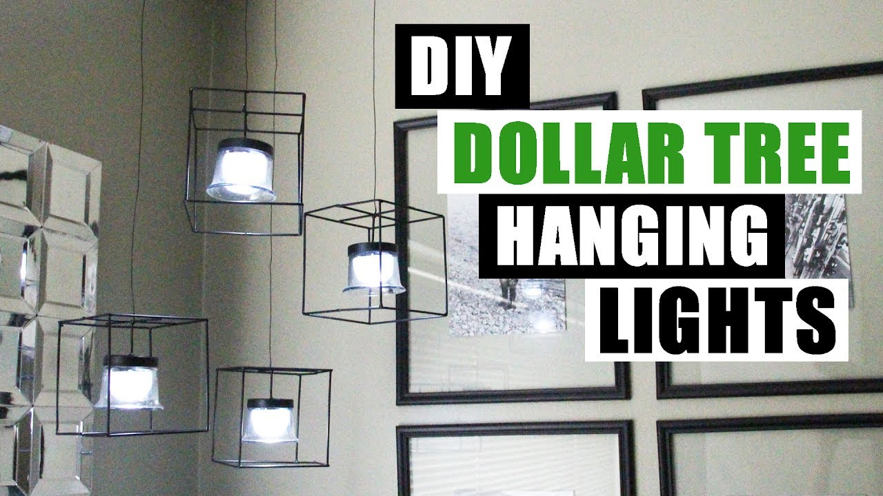 DIY DOLLAR TREE HANGING LIGHTS Dollar Store DIY Pendant Lighting DIY ...