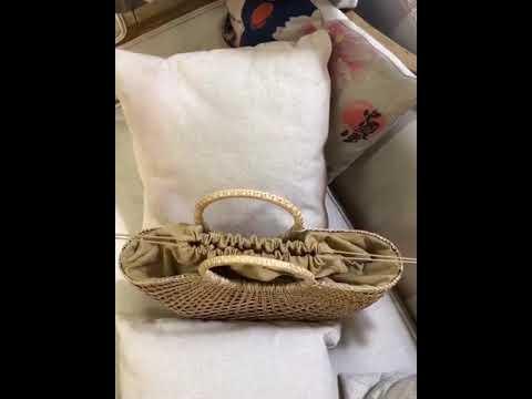 여성 여름 라탄 가방 왕골 핸드백