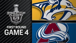 NHL 18 PS4. 2018 STANLEY CUP PLAYOFFS FIRST ROUND GAME 4 WEST: PREDATORS VS AVALANCHE. 04.18.2018 !