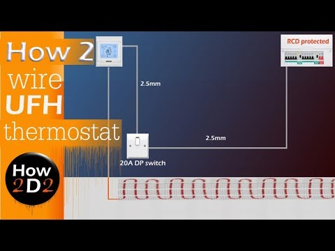 How To Wire A Thermostat Of Underfloor Heating Mat Diagram Uk Youtube