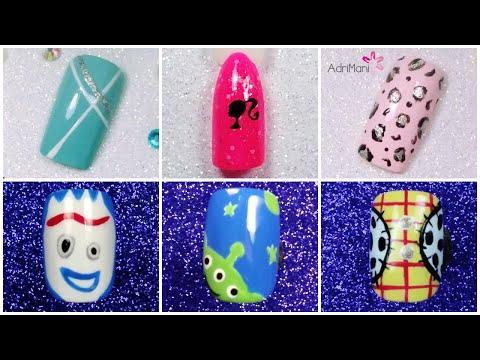 Uñas De Barbie, Toy Story, Animal Print Y Más - Nail Art Compilation