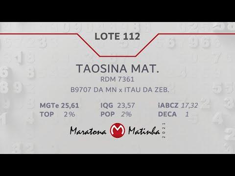 LOTE 112 Maratona Matinha