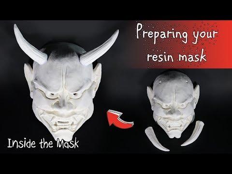 Preparing a resin Mask - Hannya