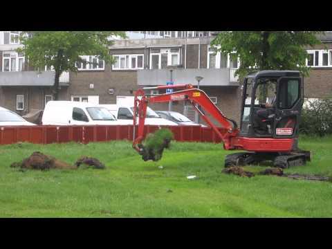 uitgraven van de tuin