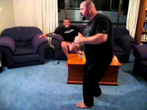Fat man dancing Taupo 1