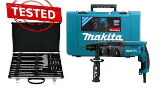Makita HR2470 780 W Unboxing-Drilling and demolition test