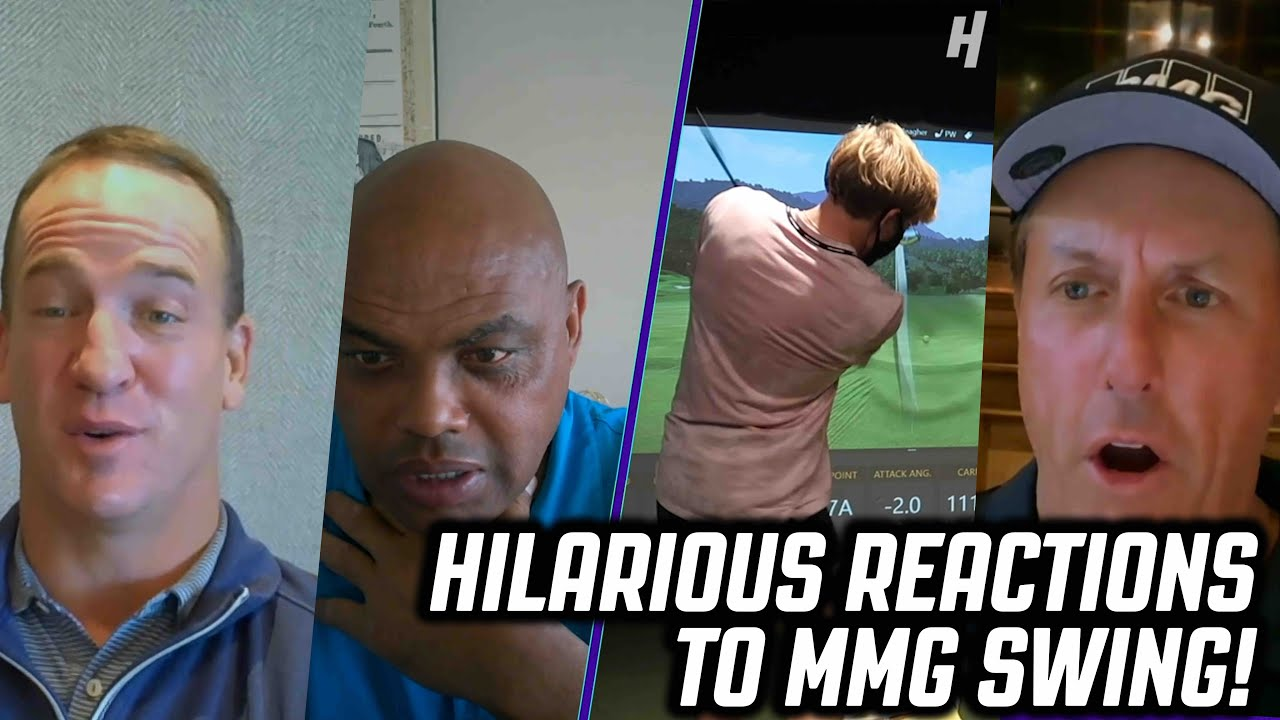 Steph Curry, Peyton Manning, Charles Barkley, & Phil Mickelson REACT to MMG'S Golf Swing!