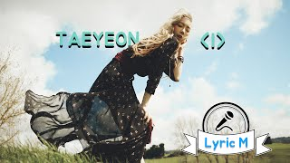 Cover images [Lyric M] TAEYEON - I (feat. Verbal Jint) , 태연 - I (feat. 버벌진트)