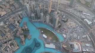 At the top of Burj Khalifa, Dubai