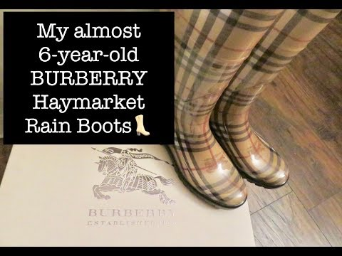 #71: My Almost 6-year-old BURBERRY HAYMARKET Rain Boots 👢