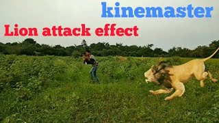 Lion attack effect  kinemaster how to do