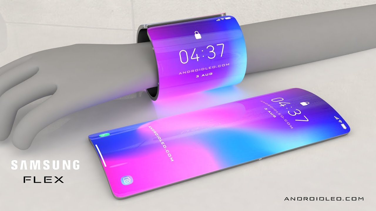 New Cell Phones 2020.Samsung Galaxy Flex 2020 Future Smartphone Concept With Flexible Display