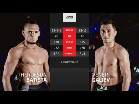 ACA 124: Хердесон Батиста vs. Венер Галиев   Herdeson Batista vs. Vener Galiev