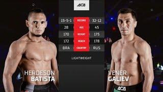 ACA 124: Хердесон Батиста vs. Венер Галиев | Herdeson Batista vs. Vener Galiev