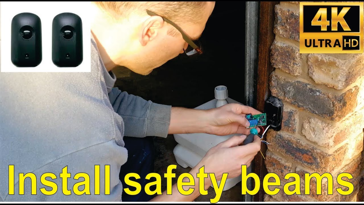 How To Install Infrared Safety Beams For Gate Or Garage Centurion Door I5 Type