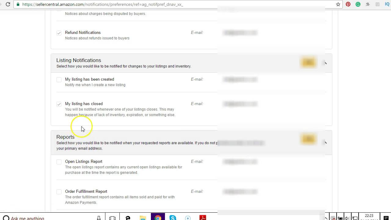 Amazon Email Notification Switch On Off Quick How To Guide - YouTube