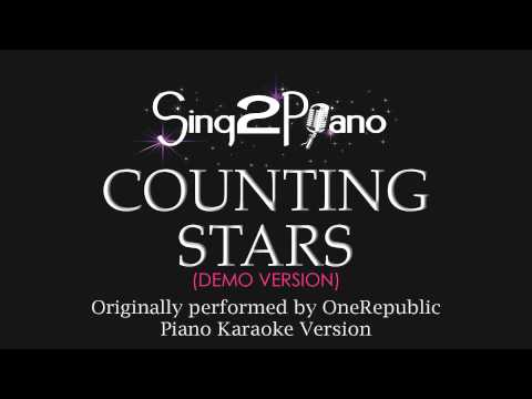 Counting Stars (Piano Karaoke Demo) OneRepublic