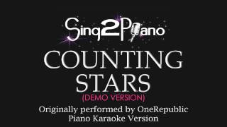 Counting Stars Piano Karaoke Demo Onerepublic