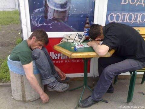 пьяная и два мужика