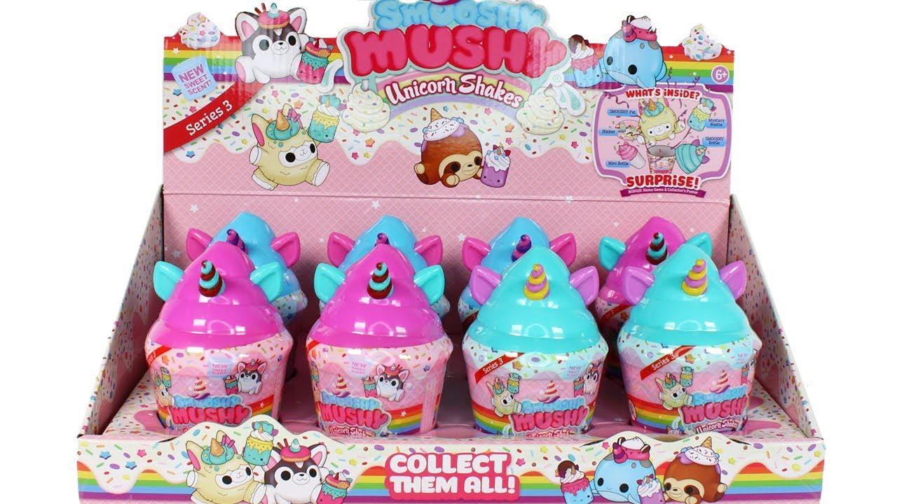 3 Smooshy Mushy Unicorn Shakes Blind Box Surprise LOT Series 3 Pink Blue Green