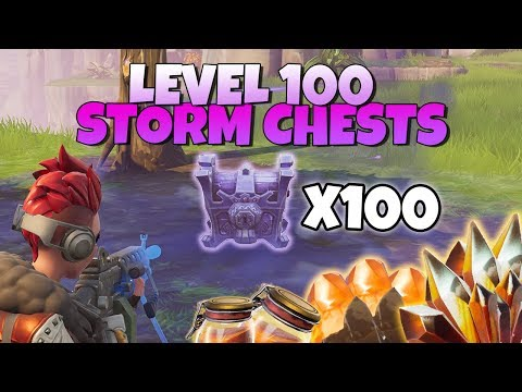 LOOT FROM LEVEL 100 STORM CHESTS X100 | Fortnite Save The World
