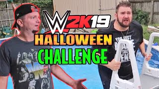 WWE Star James Ellsworth Came to My House - WWE 2k19 Halloween Game Master Challenge