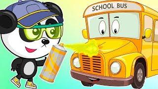 Учим Цвета Для Детей Мультик Про Школьный Автобус Обучающий Мультфильм Для Малышей