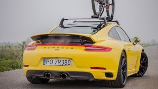 Porsche 911 Carrera 4S (991.2) 2017 with BIKE! - startup, acceleration, sound.(Porsche 911 Carrera 4S (991.2) 2017 with BIKE! - startup, acceleration, sound. The bike is Porsche Bike RX with full carbon body - 6699 $., 2016-05-02T10:16:46.000Z)