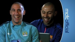 Manchester City: FUNNY ZABALETA CHATS WITH MASCHERANO | City v Barcelona preview