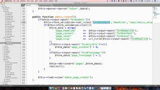 CI101 16 الزائفة رمز استعراض صفحة إنشاء