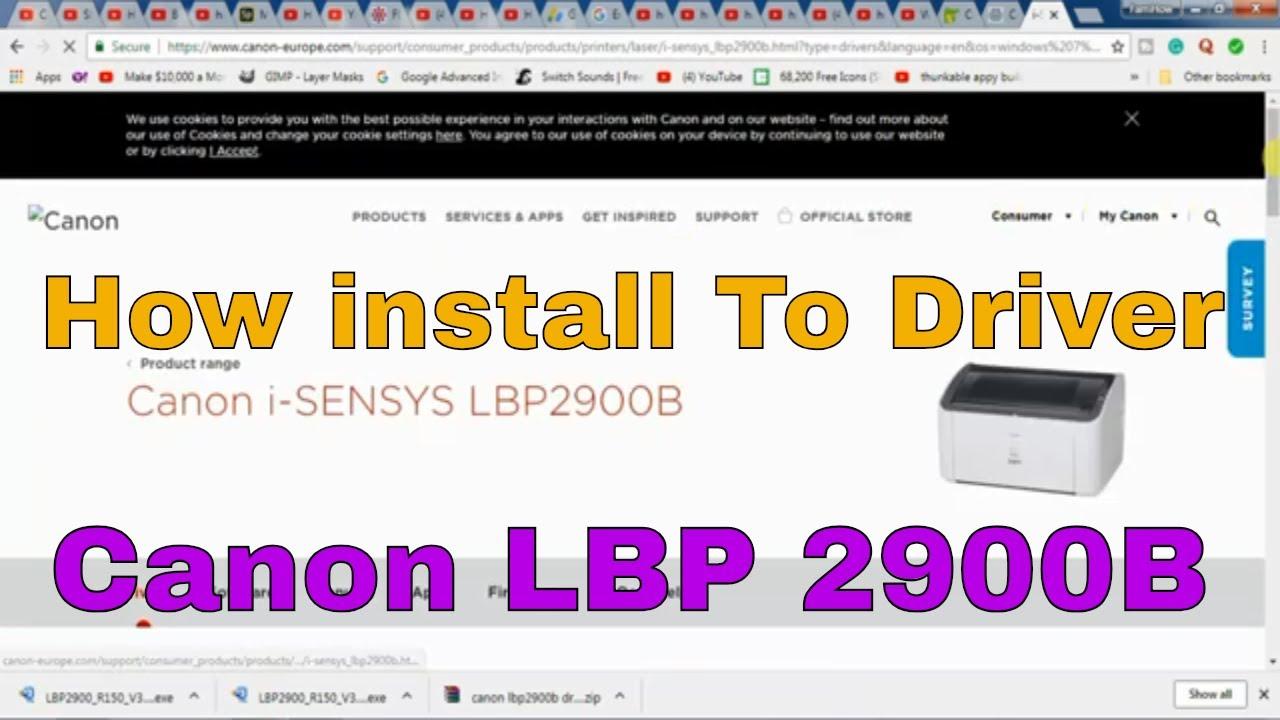 driver canon lbp 2900b windows 7