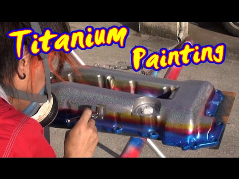 タペットカバーをチタン焼き風塗装