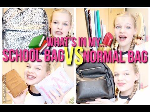 What's In My School Bag VS What's In My Normal Bag~lush leah