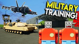 LEGO MILITARY TRAINING GONE WRONG! - Brick Rigs Multiplayer Roleplay & Gameplay Challenge