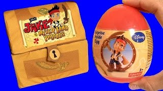 Jake And The Neverland Pirates Treasure Chest Surprise Eggs Of Tinker Bell & Disney Frozen Elsa Anna