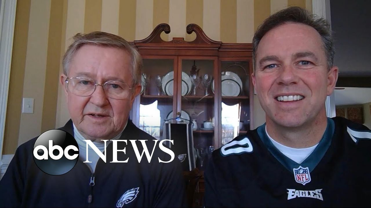 A family of Eagles fans surprise their father with tickets to the Super Bowl