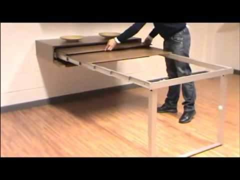 Atim party mensola transformable table demonstration youtube for Mensola con cassetto
