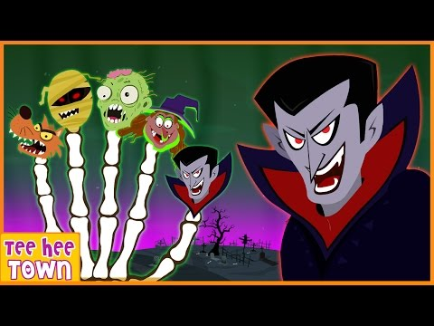Finger Family Halloween Song | Halloween Songs for Kids | Scary Songs | By Teehee Town