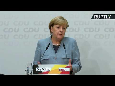 Conférence de presse d'Angela Merkel après sa quatrième victoire consécutive (Direct du 25.09)
