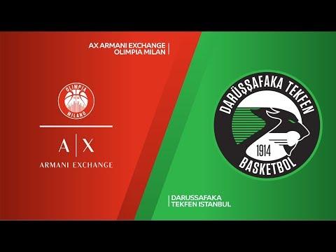 AX Armani Exchange Olimpia Milan - Darussafaka Tekfen Istanbul Highlights | EuroLeague RS Round 22